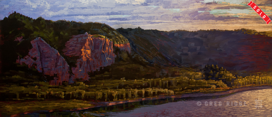 Crown Point Cliffs Sunset